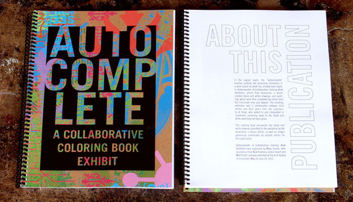Autocomplete exhibition curation and catalog design